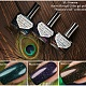 "New collection of El Corazon Active Bio-gel nail polishes: ""Peacock's Tail""!"