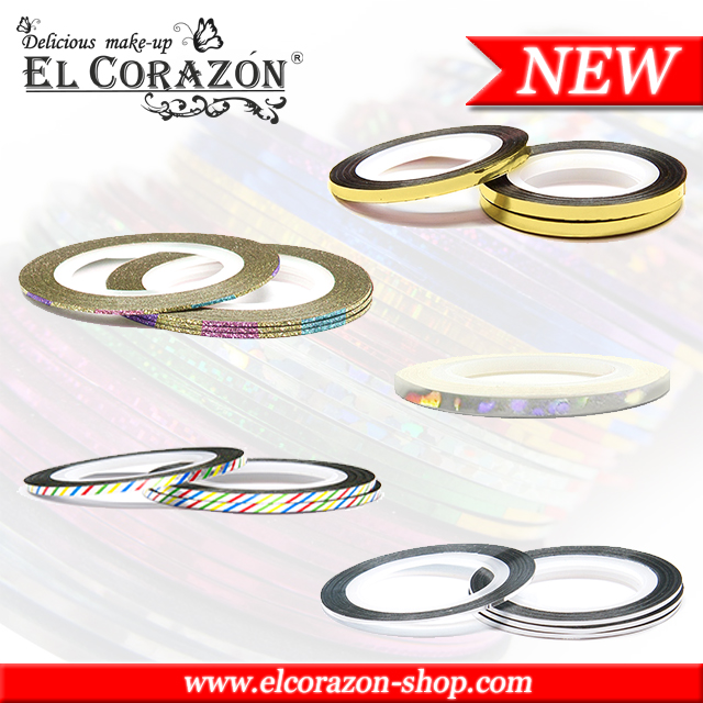 New El Corazon Striping tapes for nail art!