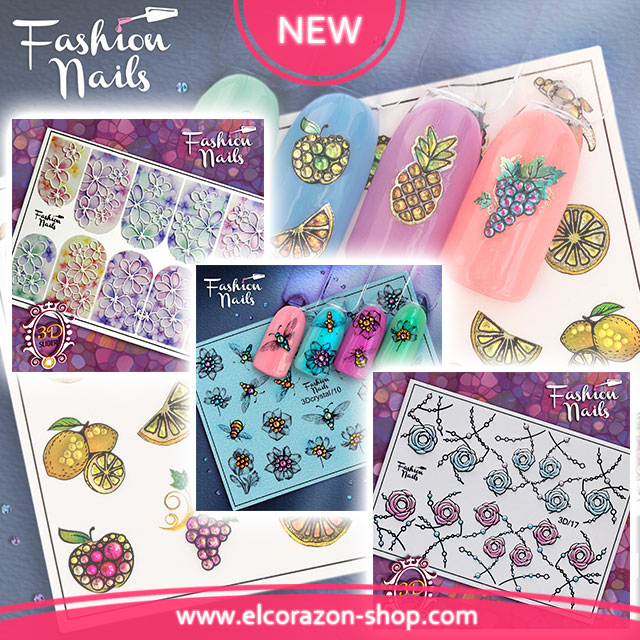 New! Fashion Nails - 3D Water decals!