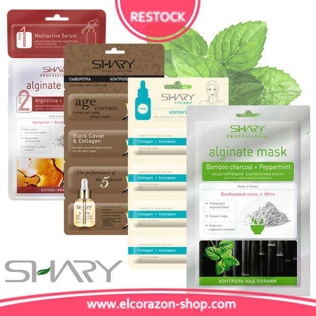SHARY Face Masks and Serums restock!