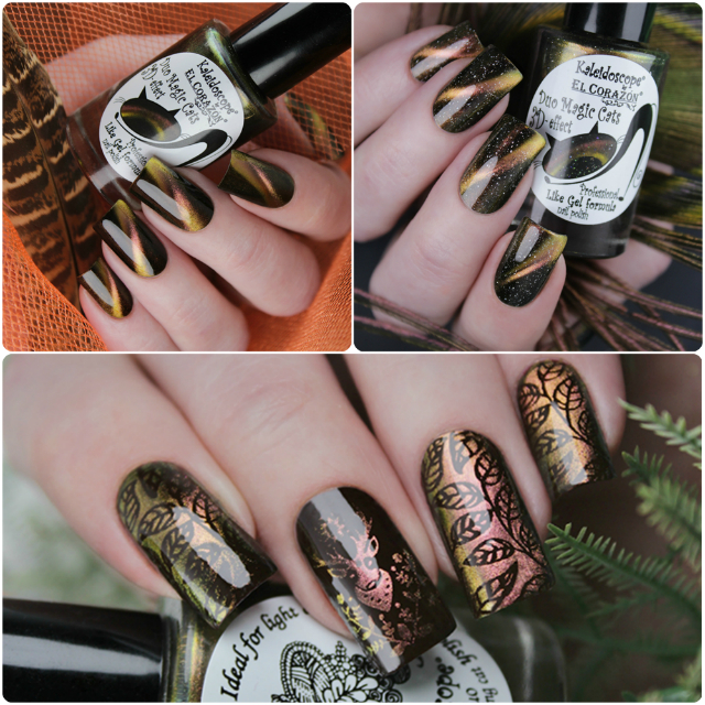 New photos of Kaleidoscope by El Corazon magnetic nail polishes and stamping nail polish!