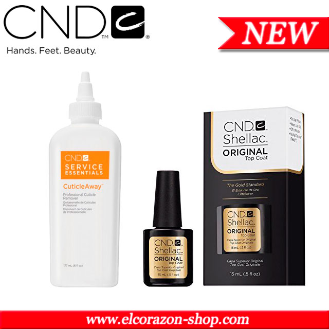 "New! CND: base and top gel coats, cuticle remover ""Cuticle Away"""