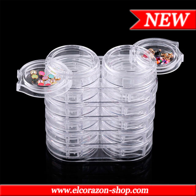 New! Set of empty jars for glitters 12 pcs.!