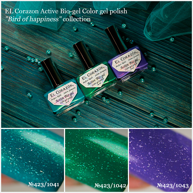 "New collection of El Corazon Active Bio-gel nail polishes: ""Bird Of Happiness""!"