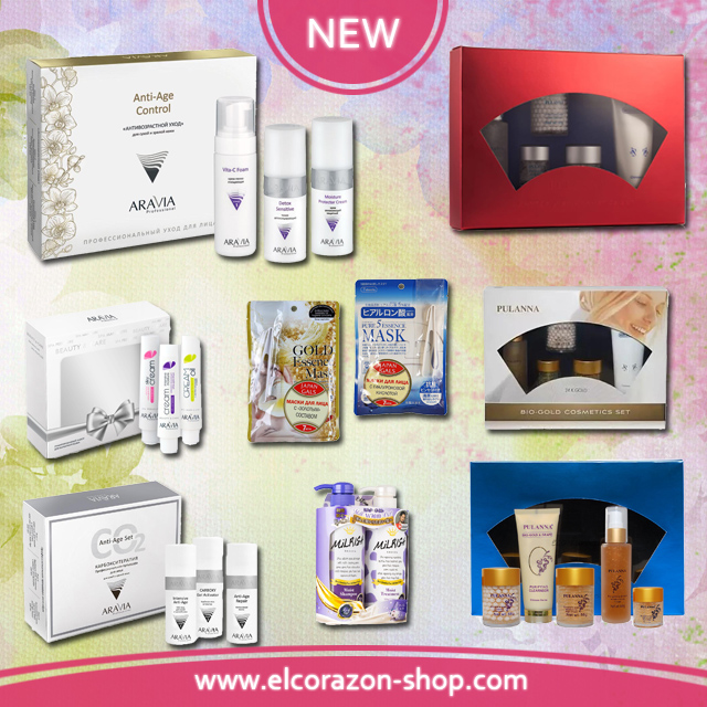Cosmetic sets for face, body and hair care