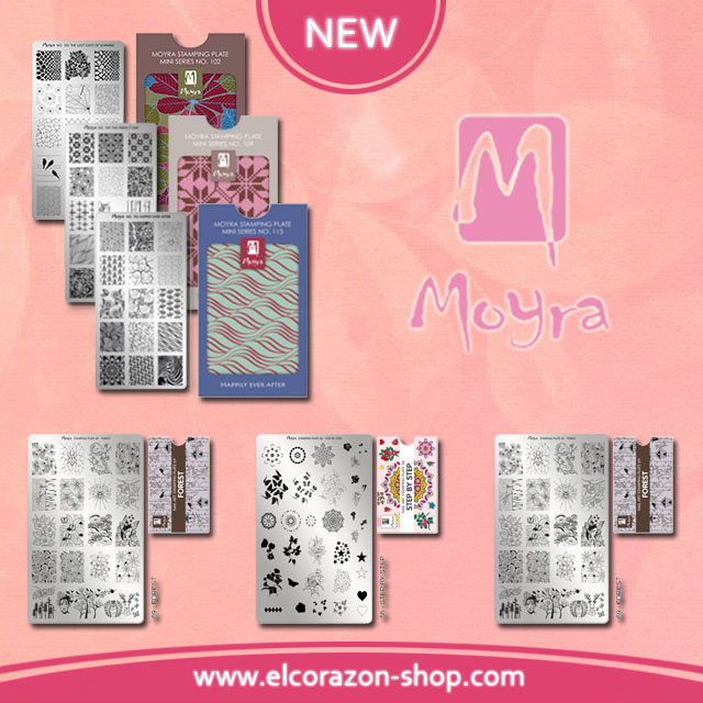 New and restock Moyra stamping plates!