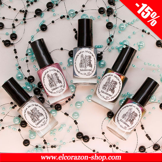 Set of new stamping nail polishes with 15% discount!