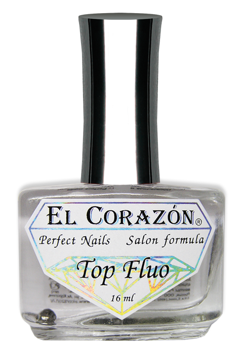 "картинка El Corazon Perfect Nails №411 Флуоресцентный лак-топ ""Top Fluo"" 16 мл от магазина El Corazon"