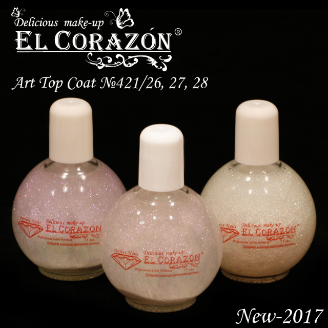 "New El Corazon decorative top coats ""Art Top Coat"" in 75 ml!"