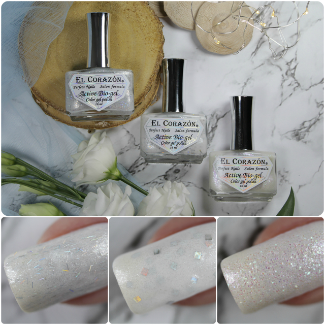 "New collection of El Corazon Active Bio-gel nail polishes: ""Wedding Dreams""!"