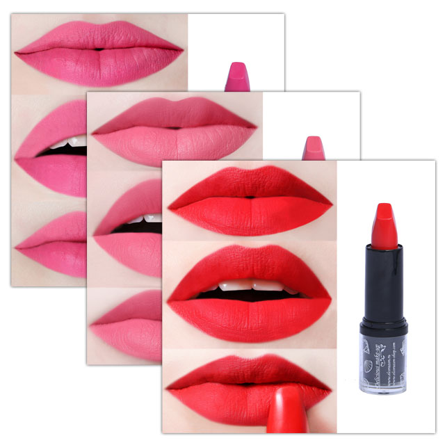 New photos of El Corazon Matte Mineral lipstick on lips!