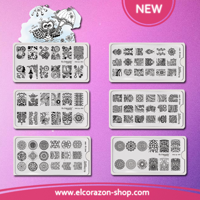 New El Corazon Stamping Plates!!!