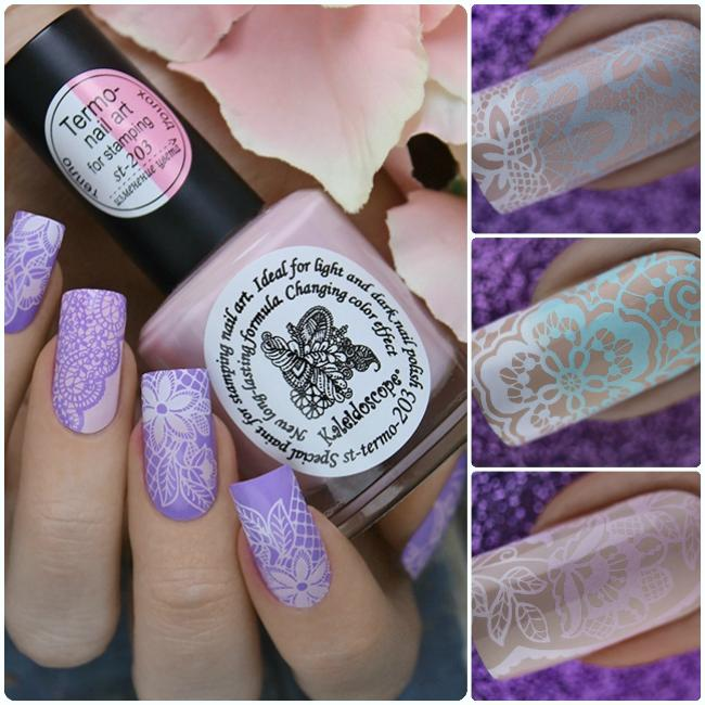 "Kaleidoscope by El Corazon new series of Stamping nail polishes ""Termo"""