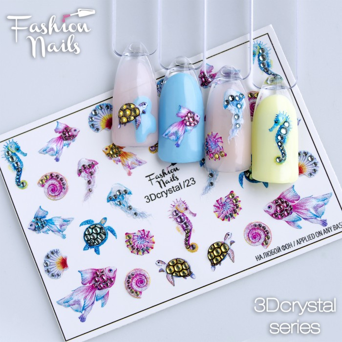New Fashion Nails Water decals 3D!