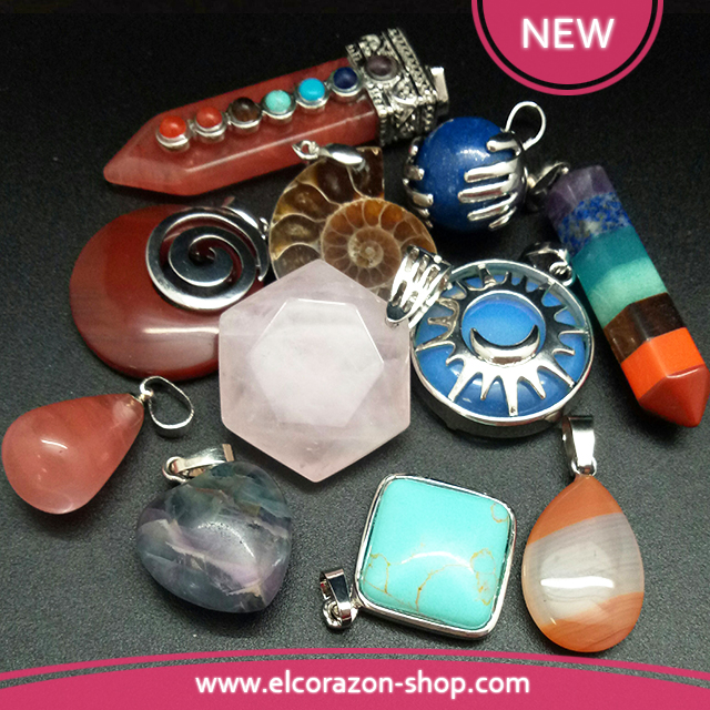 New Pendants of natural stones!