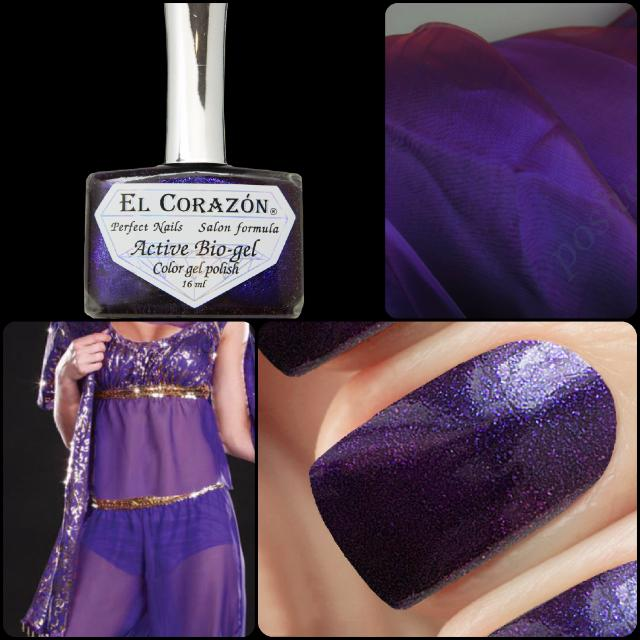 "New collection of El Corazon Active Bio-gel nail polishes: ""Eastern Organza""!"