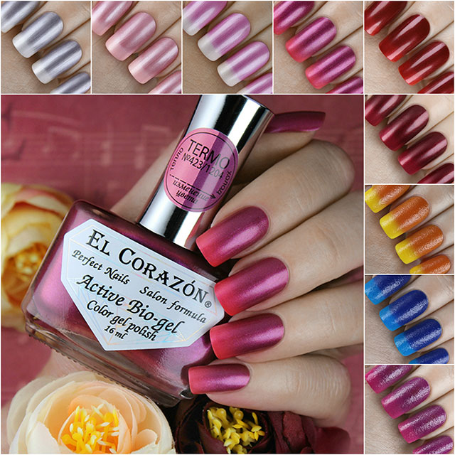 "9 new colors of El Corazon Active Bio-gel ""Termo""!"