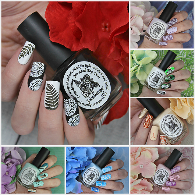 "The new series stamping nail polishes of Kaleidoscope by El Corazon ""Matte"""