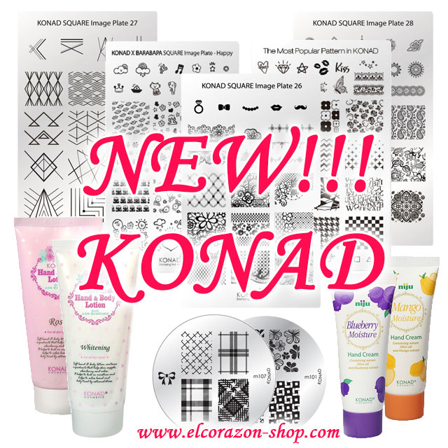 New! Konad: stammping plates and disks, care cosmetics